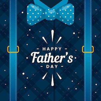 Feliz dia dos pais com gravata borboleta