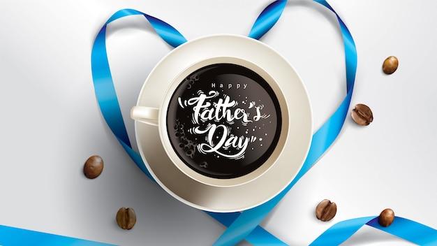 Feliz dia dos pais design com diversão conceito e cor pastel