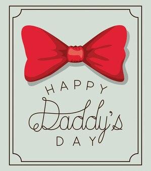 Feliz dia dos pais e design de gravata borboleta