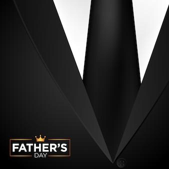 Feliz dia dos pais em um fundo de terno preto