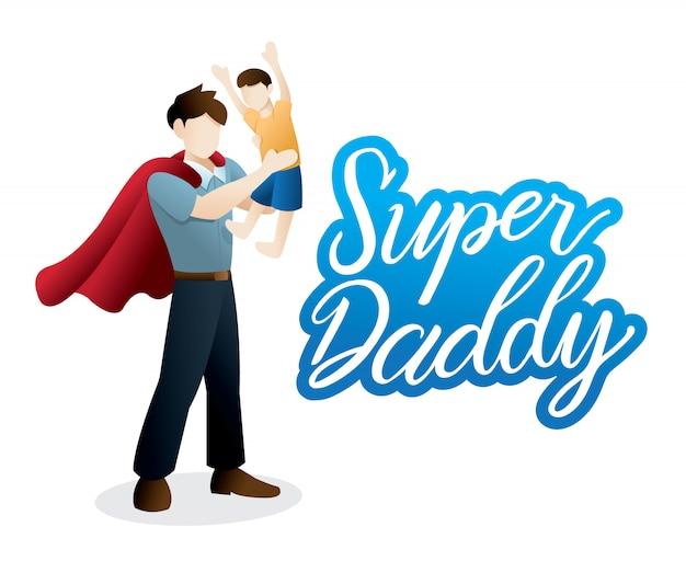 Feliz dia dos pais ilustração