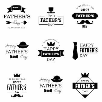 Feliz dia dos pais logotipo