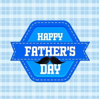 Feliz dia dos pais, texto com bigode preto