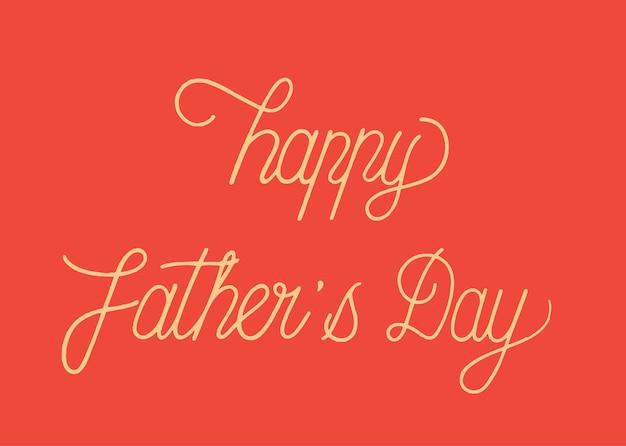 Feliz dia dos pais tipografia design ilustração