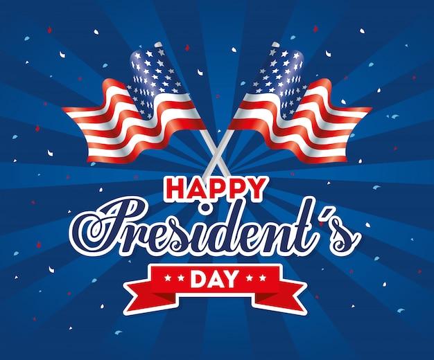 Feliz dia dos presidentes dos eua estados unidos américa nação independência país país e cartão nacional