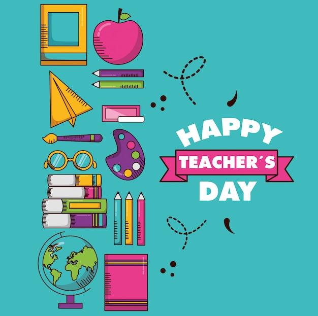 Feliz dia dos professores cartão