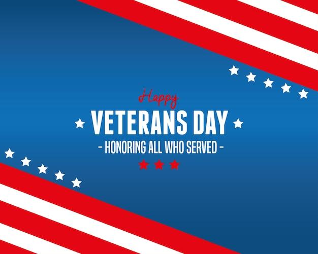 Feliz dia dos veteranos - honrando todos os que serviram