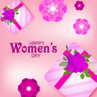 Feliz dia internacional da mulher em 8 de março
