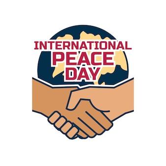 Feliz dia internacional da paz conceito