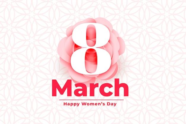 Feliz dia internacional das mulheres evento fundo
