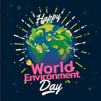 Feliz dia mundial do meio ambiente com o planeta