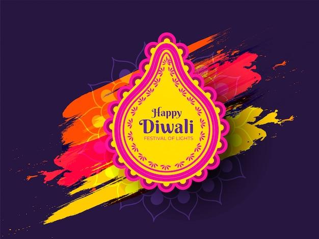 Feliz diwali cartão celebração