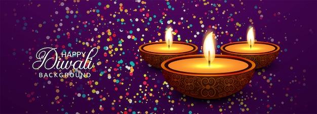 Feliz diwali celebração mídias sociais cabeçalho ou banner