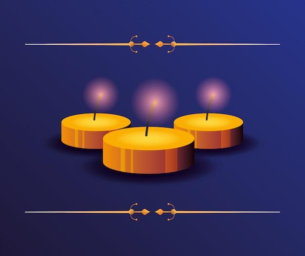 Feliz diwali celebração