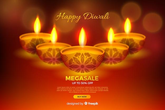 Feliz diwali com mega venda