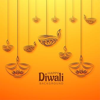 Feliz diwali deseja férias cartão backgorund