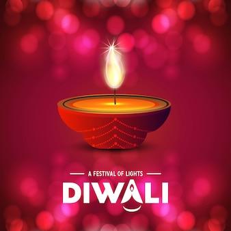 Feliz diwali design criativo