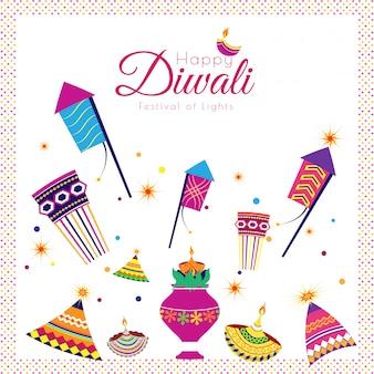 Feliz diwali fundo de celebração.