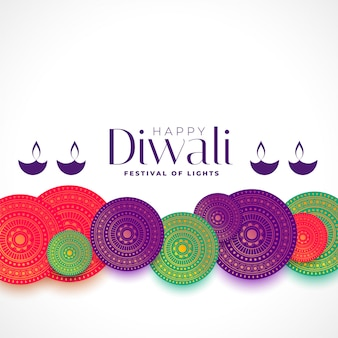 Feliz diwali fundo decorativo