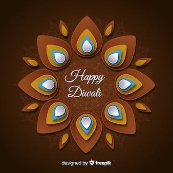 Feliz diwali papel estilo de fundo