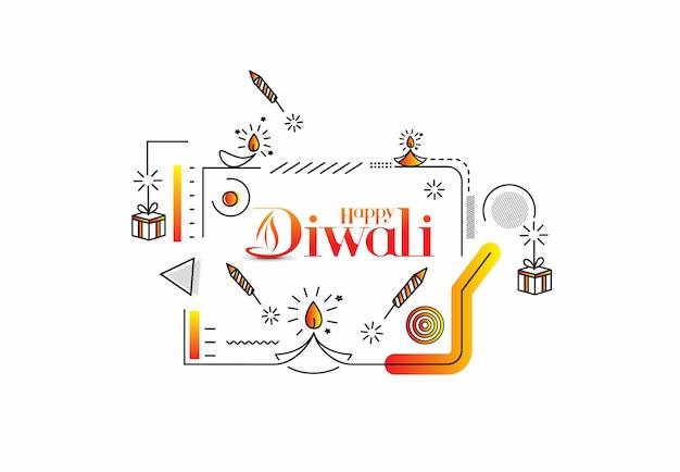 Feliz diwali sale banner poster, ilustração vetorial.
