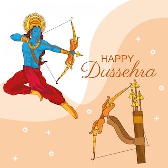 Feliz dussehra festival da índia