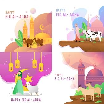 Feliz eid al adha vector design