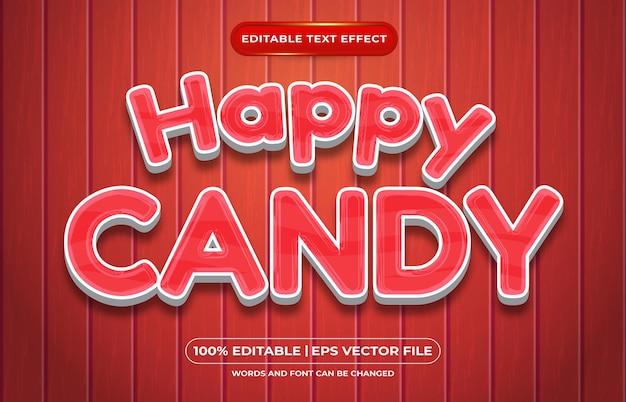 Feliz estilo de modelo líquido de efeito de texto editável doce
