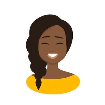 Feliz, expressão facial, de, jovem, africano