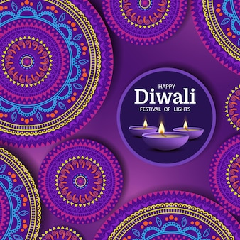 Feliz feriado diwali festival das luzes
