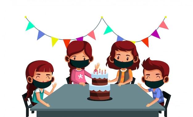 Feliz festa de aniversário durante uma pandemia