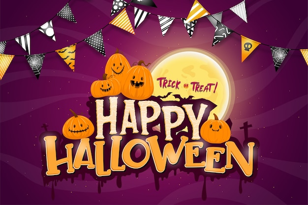 Feliz festa de celebração de halloween Vetor grátis