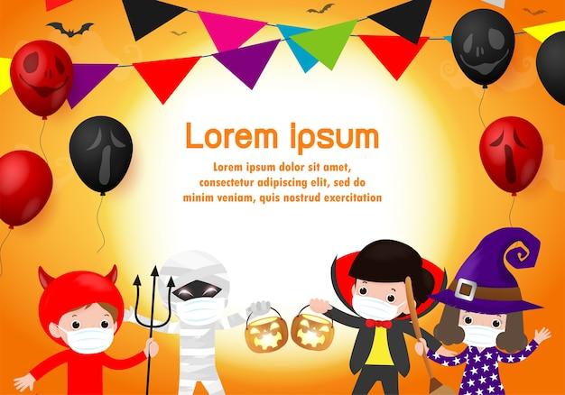 Feliz festa de halloween para um novo trick or treat normal