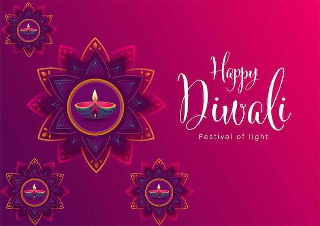 Feliz festival das luzes de diwali