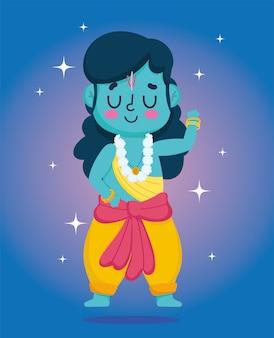 Feliz festival dussehra da índia, tradicional personagem religioso hindu