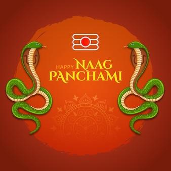 Feliz festival indiano naag panchami