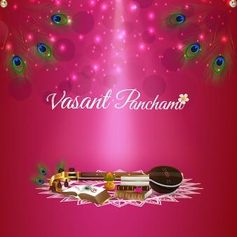 Feliz fundo de celebração vasant panchami