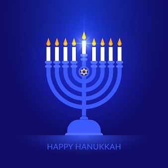 Feliz hanukkah background