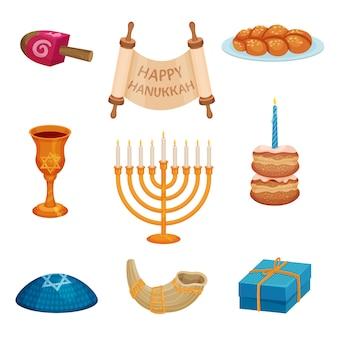 Feliz hanukkah conceito. tradições e cultura judaicas.