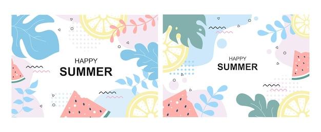 Feliz horário de verão no fundo da ilustração da praia
