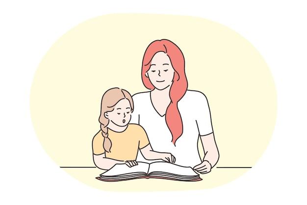 Feliz lazer e atividades em casa com o conceito de crianças.