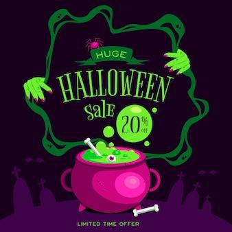 Feliz liquidação de halloween