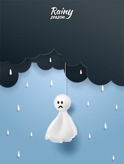 Feliz monção, fundo de estação chuvosa
