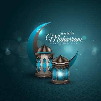 Feliz muharram background