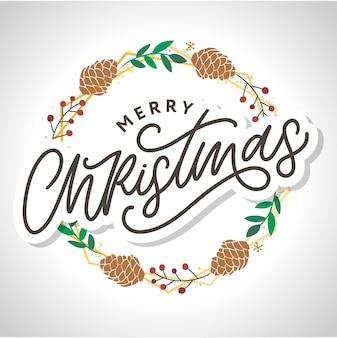 Feliz natal 2021 cartaz lindo cartão com palavra de texto preto de caligrafia.