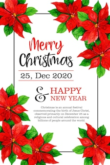 Feliz natal 25 de dezembro design de pôster