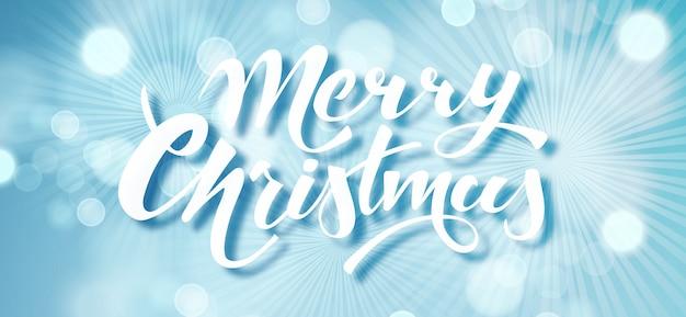 Feliz natal azul cartão de férias.
