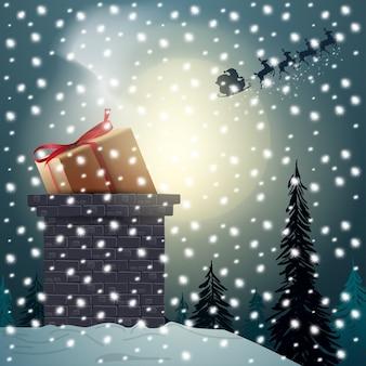 Feliz natal. bandeira moderna de natal