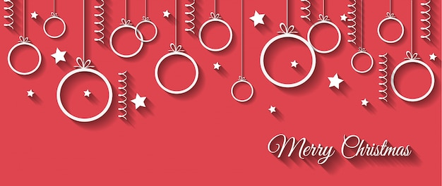 Feliz natal banner ou cartão para seus convites sazonais
