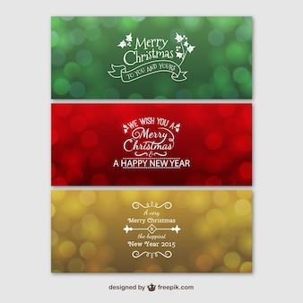 Feliz natal banners coloridos